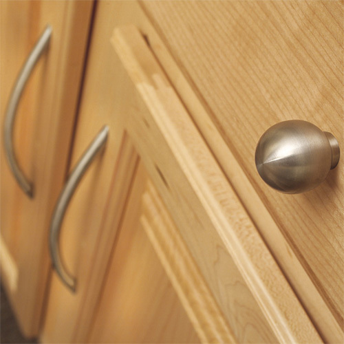 ... Amerock Hardware Brushed Stainless Steel Bow Pull 128mm Centers