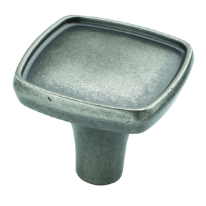 "Amerock - Porter - 1-1/8"" Square Knob Weathered Nickel"