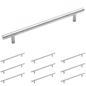 "Amerock Hardware - 10 Pack of 7 1/2"" Centers Carbon Steel Bar Pull in Sterling Nickel"