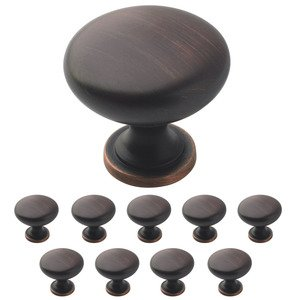 "Amerock Hardware - 10 Pack of 1 1/4"" Diameter Allison Knob in Oil Rubbed Bronze"