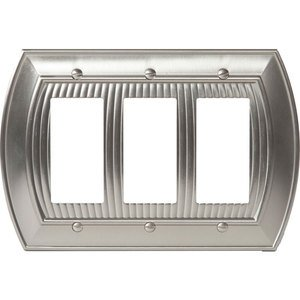Amerock Decorative Hardware - Allison - Triple Rocker Wallplate in Satin Nickel