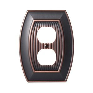 Amerock - Allison - Single Outlet Wallplate in Oil Rubbed Bronze