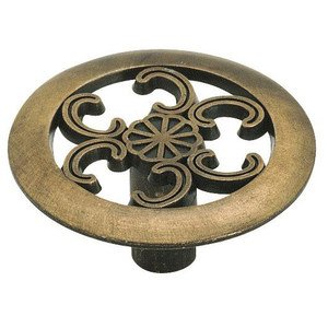 "Amerock - Allison Value Hardware - 1 1/2"" Diameter Oversized Knob in Antique Brass"
