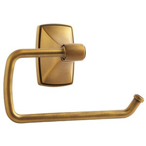 Amerock Clarendon Single Arm Tissue Roll Holder in Gilded Bronze