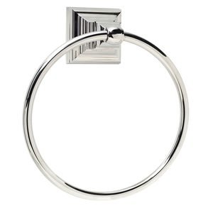 Amerock Markham Towel Ring in Polished Nickel