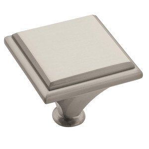 "Amerock - Manor - 1 3/8"" Square Knob in Satin Nickel"