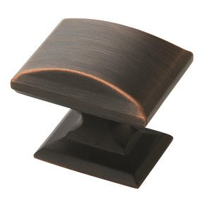 "Amerock - Candler - 1 1/4"" Rectangular Knob in Oil Rubbed Bronze"