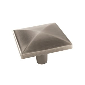"Amerock - Extensity - 1 1/2"" Square Knob in Antique Silver"