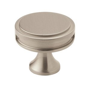 "Amerock - Oberon - 1 3/8"" Diameter Knob in Satin Nickel"