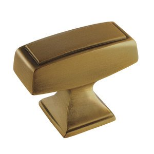 "Amerock - Mulholland - 1 1/2"" Rectangle Knob in Gilded Bronze"