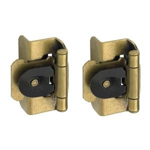 "Amerock - Burnished Brass Super Values - Double Demountable 1/2"" Overlay Hinge (Pair) in Burnished Brass"