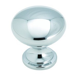 Amerock European Designs Zinc Die Cast Polished Chrome Finish Knob 1 1/4""