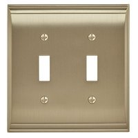 Amerock - Candler - Double Toggle Wall Plate in Golden Champagne