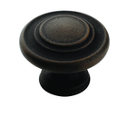 Amerock - Rust - 3-Ring Knob in Antique Rust
